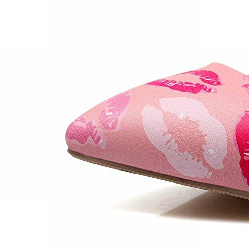 Mee Shoes Damen süß spitz Geschlossen high heels Pumps Pink