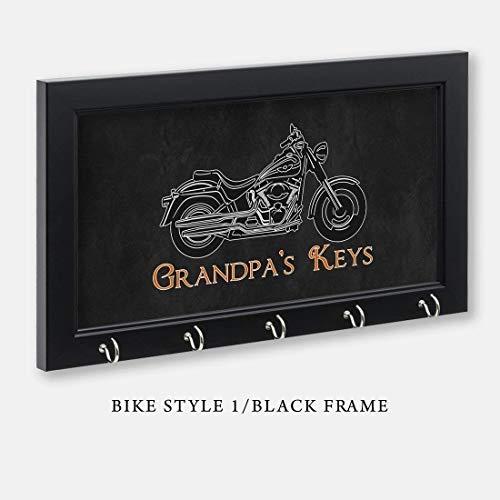 Personalized Harley Davidson Motorcycle Key Holder