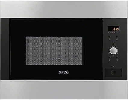 Zanussi ZBM26542XA Integrado 26L 900W Acero inoxidable - Microondas (Integrado, 26 L, 900 W, Botones, Giratorio, Acero inoxidable, Apertura por empuje)