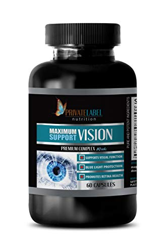 - Eye Vitamins with Lutein & Bilberry - Maximum Vision Support - Premium Complex - Lutein with Bilberry Extract - 1 Bottle 60 Capsules