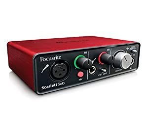 focusrite scarlett solo usb audio interface musical instruments. Black Bedroom Furniture Sets. Home Design Ideas