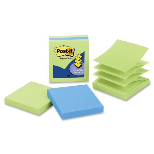 80%OFF Post-it Pop-up Notes, 3 in x 3 in, Assorted Colors, 3 Pads/Pack, 100 Sheets/Pad (3301-3AU-LE)