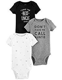 """Simple Joys by Carter's Baby 3-Pack Short-Sleeve """"Family Slogan"""" Bodysuits"""