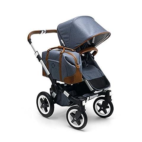 Bugaboo Donkey Weekender Stroller, Blue/Brown (Donkey Twin)