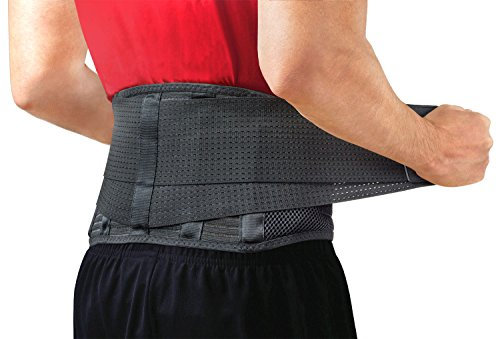 Back Brace by Sparthos – Immediate Relief for Back Ache, Herniated Disc, Sciatica, Scoliosis and extra! – Breathable Mesh Design with Lumbar Pad – Adjustable Support Straps – Lower Back Belt – DiZiSports Store