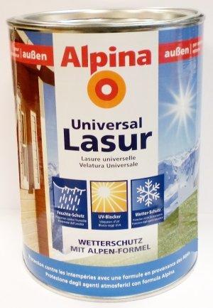 Ordentlich Alpina Universal Holzlasur, Weiß, 2,5 Liter, außen: Amazon.de  IV92