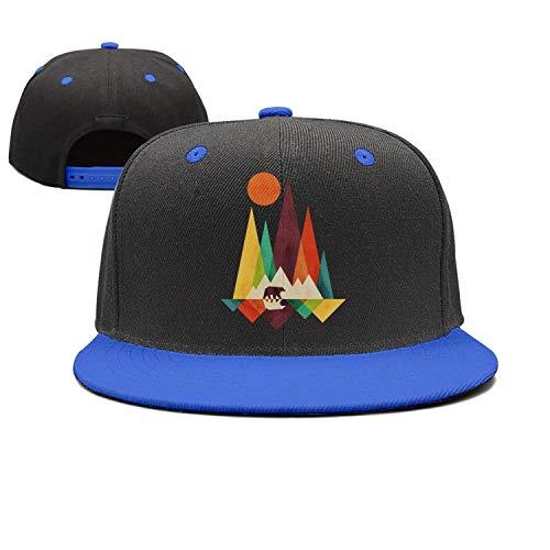 SR-Home Mountain Bear Graphic Colorful Cool Snapback Cap Baseball Trucker Hats -