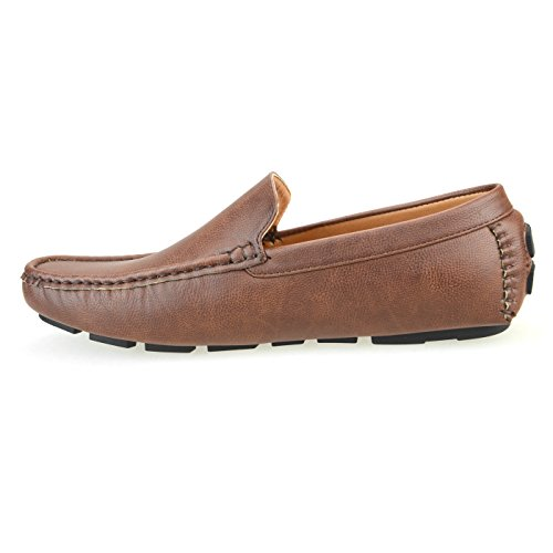 Lucius An Mens Loafer Shoes Slip On Plain Teen Opera Shoes Rijden Loafers Bit 1770 Donkerbruin