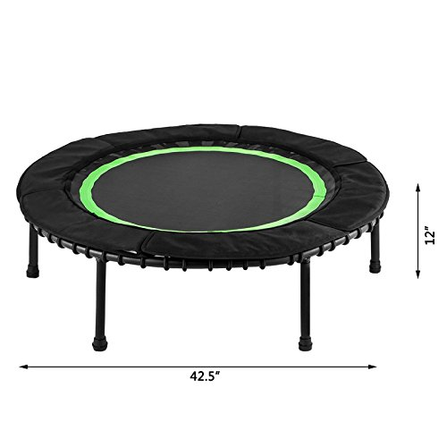 """ShareProfit 40"""" Fitness Trampoline 330lbs Holding Capacity Portable Exercise Trampoline with Latex Rubber Bungees Elastic Jump Mat Bungee Rebounder Mini Trampoline"""