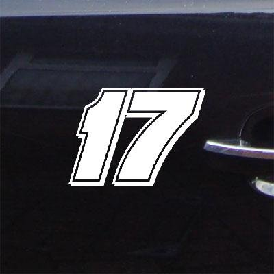 WALL ART ADHESIVE VINYL HELMET MACBOOK NASCAR ART DIE CUT HOME DECOR DECOR LAPTOP CAR NOTEBOOK VINYL WALL MATT KENSETH # 17 DECAL AUTO WHITE - Matt Wall Kenseth