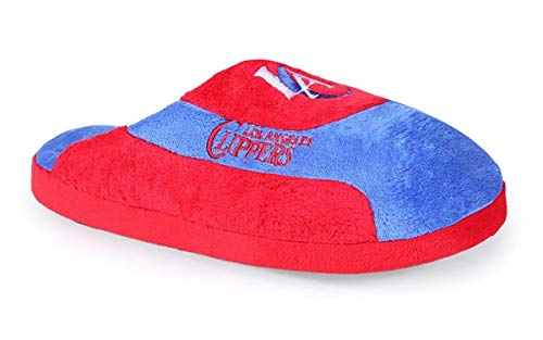 LAC07-2 Los Angeles Clippers - Medium - Happy Feet Mens and Womens Low Pro Slippers