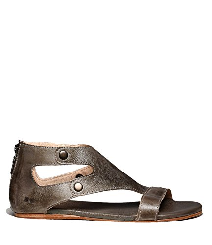 Bed|Stu Women's Soto Leather Flat Sandal (8.5 B(M) US, Taupe Rustic)