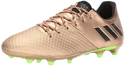 adidas Men's Messi 16.2 Firm Ground Cleats Soccer Shoe, Copper Metallic/Black/Solar Green, (10.5 M US) (Adidas Green Soccer Cleats)