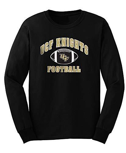 Elite Fan Shop NCAA Men's Central Florida Golden Knights Football Long Sleeve T-shirt Team Color UCF Knights Black X Large (Best Football T Shirts)