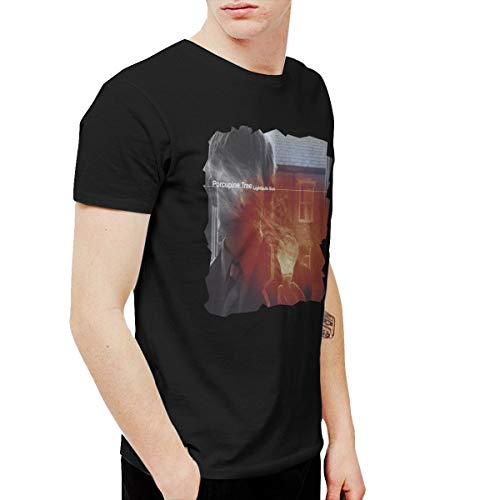 BowersJ Porcupine Tree Lightbulb Sun Men's Tee Black XXL (Porcupine Tree T Shirt)