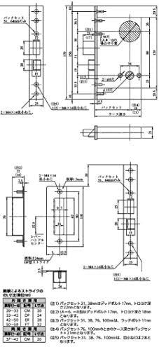 MIWA 美和ロック U9LAー1 バックセット64mm 扉厚(mm) 58~66 仕上 ST キー3本付属 錠ケースセット