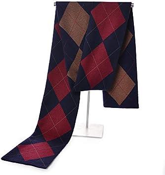Color : 2, Size : 18030CM Zhukeke Mens Autumn Winter Warm Scarf Striped Grid Neckerchief Tartan Scarves Paisley Bandannas Bandelet 18030cm for Men Long Shawls Wear-Resistant Fashion