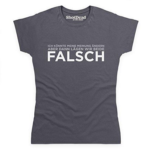 ICH KNNTE MEINE MEINUNG NDERN Camiseta, Para mujer Gris marengo