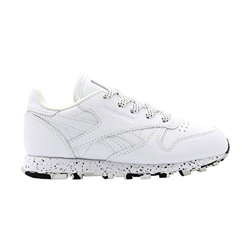 negro Blanco Clásica Leather K Unisex Piel Reebokclassic Niño nxqHf0wBC