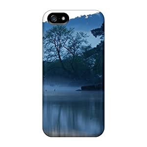 Fashion Protective Early Morning Lake Case Cover For Iphone 5/5s