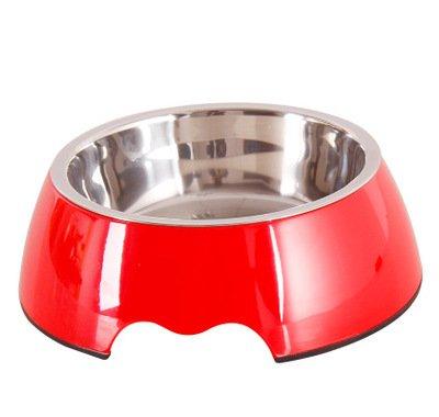 1 M 1 M GaoMiTA Pet Bowls, Melamine pet Bowls Pet Supplies Cats and Dogs, pet Food, Dual-use, Stainless Steel Bowl, pet Food Bowl, Dog Bowl (color   1, Size   M)