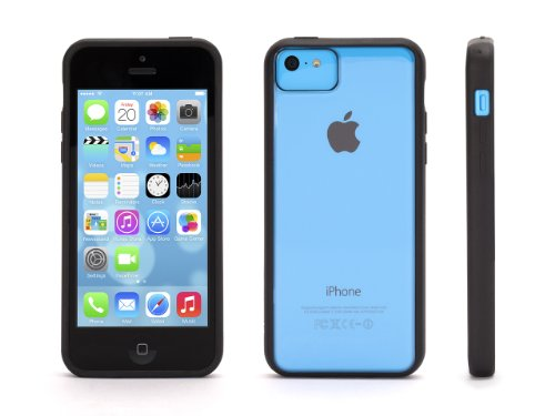 Griffin Reveal Protective Clear Case with Black Trim for iPhone 5c - See-through Ultra Thin Protection.