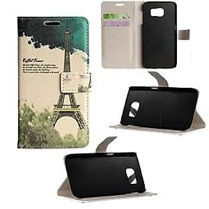 GDW Teléfono Móvil Samsung - Carcasas de Cuerpo Completo/Fundas con Soporte - Gráfico - para Samsung Samsung Galaxy S6 ( Multi-color/Rosado ,