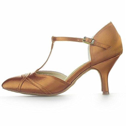 Talon Femmes De Brun Monie Salsa Évasé 3 De Danse De Pouces Chaussures Salle Bal Latin Tango tpdwgqp6