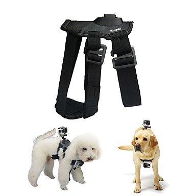 Dog Harness Chest Fetch Strap Camera Mount for GoPro Hero 4 / 2 / 3 / 3+ / SJ4000 -Black , black-black