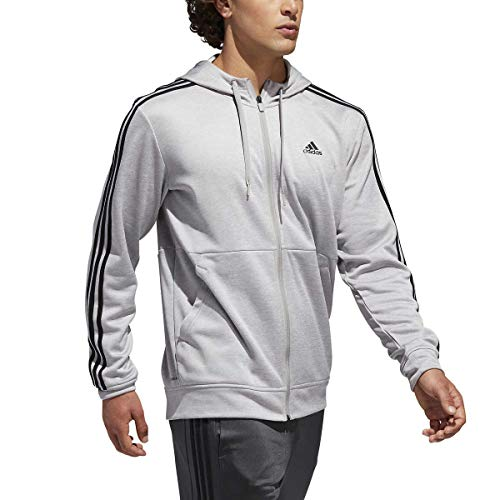 (adidas Men's Tech Full Zip Fleece Hoodie Performance Hooded Track Jacket (Large,)