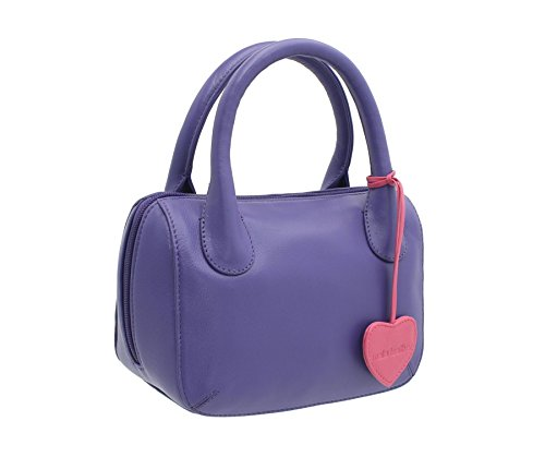 Sac à main Mala Leather Collection Anishka Leather 774_75 Sky Blue Purple