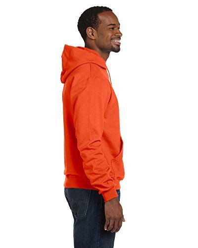 Champion Adult Double Dry Eco Hooded Pullover Fleece, Orange, X-Large ()