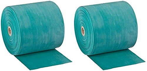 Cando 10-5623 Green Latex-Free Exercise Band, Medium Resistance, 50 yd Length (2-Pack)