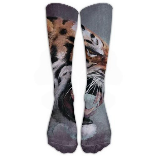 Harajuku Realistic Tiger Stockings Long Tube Socks, Great Quality Classics Knee High Socks Sports Socks For Women Men One Size 1 Pair By Uxjam