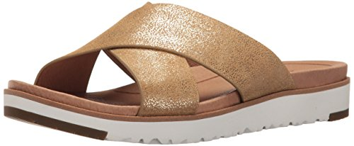 UGG Women's Kari Metallic Flat Sandal, Gold, 9.5 US/9.5 B US by UGG