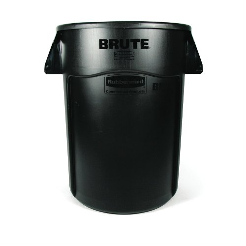Rubbermaid BRUTE 44-Gallon Waste Container - 44 gal Capacity - Black by Rubbermaid