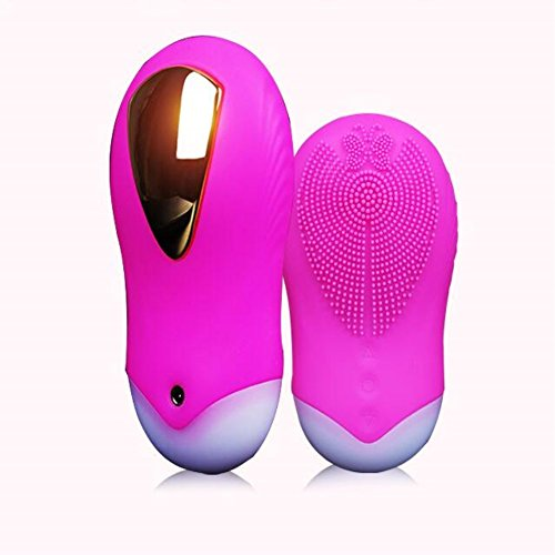 CHUHUAYUAN Silicone Facial Brush Electric Rechargeable Dual Sided Brush Cleaner Silicone Face Massager Brush Multi function Beauty Device Sonic Face Cleanser (Rose Red)