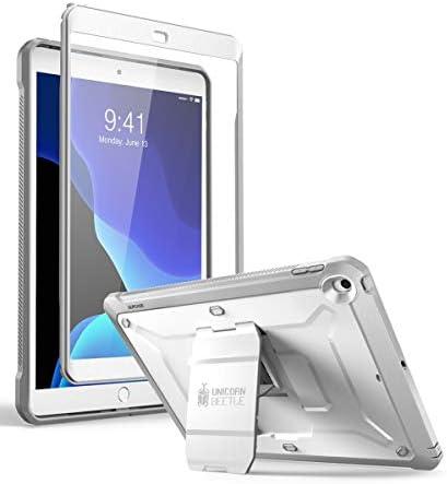 SUPCASE Funda para iPad 10.2 (2020/2019) [Unicorn Beetle Pro] con Protector de Pantalla Integrado para iPad 8ª generación 2020/iPad 7ª generación 2019 -Blanco