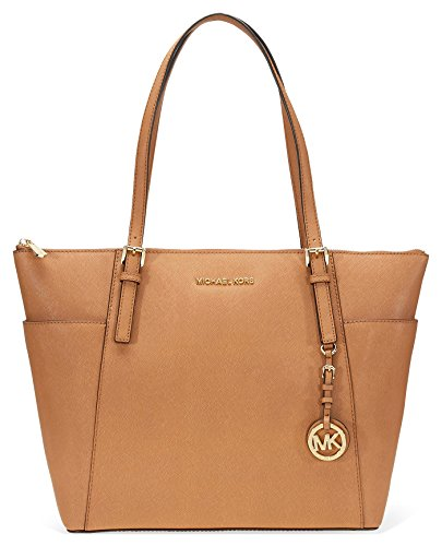 Michael Kors Large Jet Set Saffiano Leather Tote - Acorn