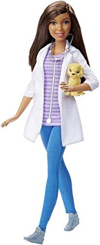 [Barbie DHB19 Careers Veterinarian Doll, African-American] (Doctor Barbie Costume)