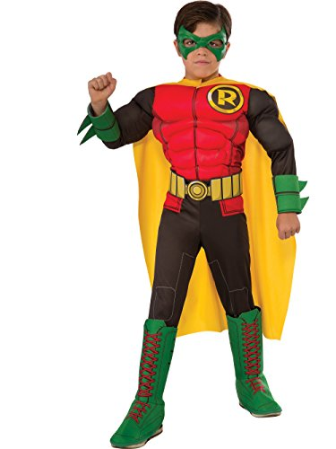 Rubie's Child's DC Superheroes Robin Costume, Medium ()