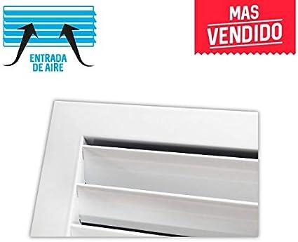 Rejilla de ventilaci/ón retorno blanco Marco de montaje