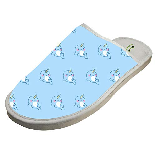 Non Washable Kawaii Indoor Foam narwhal Cotton Slippers White Slip SqxwHFRx