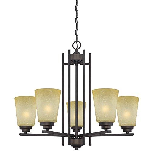Westinghouse 63443C Ewing 5 Light Indoor Chandelier, Oil Rubbed Bronze