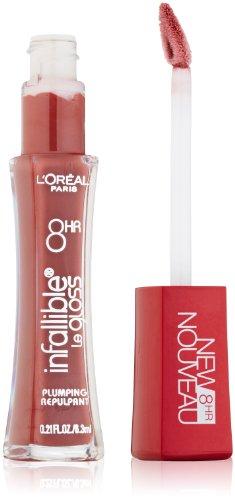L'Oreal Paris Infallible 8HR Plumping Lip Gloss, Plum, 0.21 Ounces
