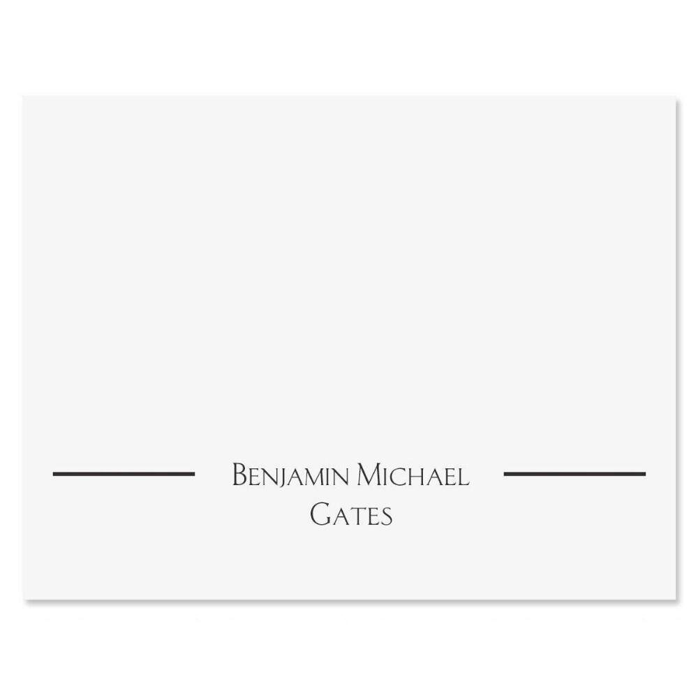 Elegant Personalized Note Cards (Set of 12 Cards with White Envelopes)