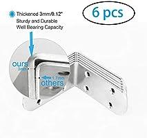 Amazon.com: uxcell 6pcs soporte de ángulo de acero ...