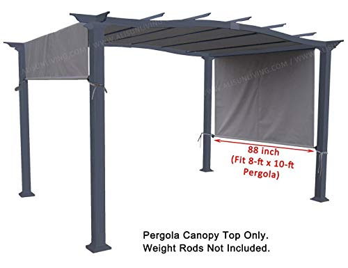 ALISUN Universal Pergola Canopy Top for 8-ft x 10-ft Pergola Structure - Grey (Canopy Fabric Top Only, Size: 196-inch x 88-inch) by ALISUN (Image #5)