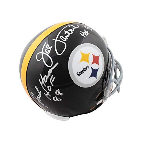 Jack Ham Jack Lambert HOF Autographed Steelers Full-Size Football Helmet JSA (B)