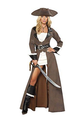 ニヤースさんの店 ハロウィン 海賊 女性海賊風 大人用 コスチューム 制服 パーティー服 コスチューム・ハロウィン衣装 コスプレ 仮装 変装